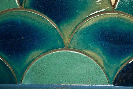 Douglas Watson Variegated Crackle Glaze Scallop Tiles Inside Pinterest Colors The Ojays