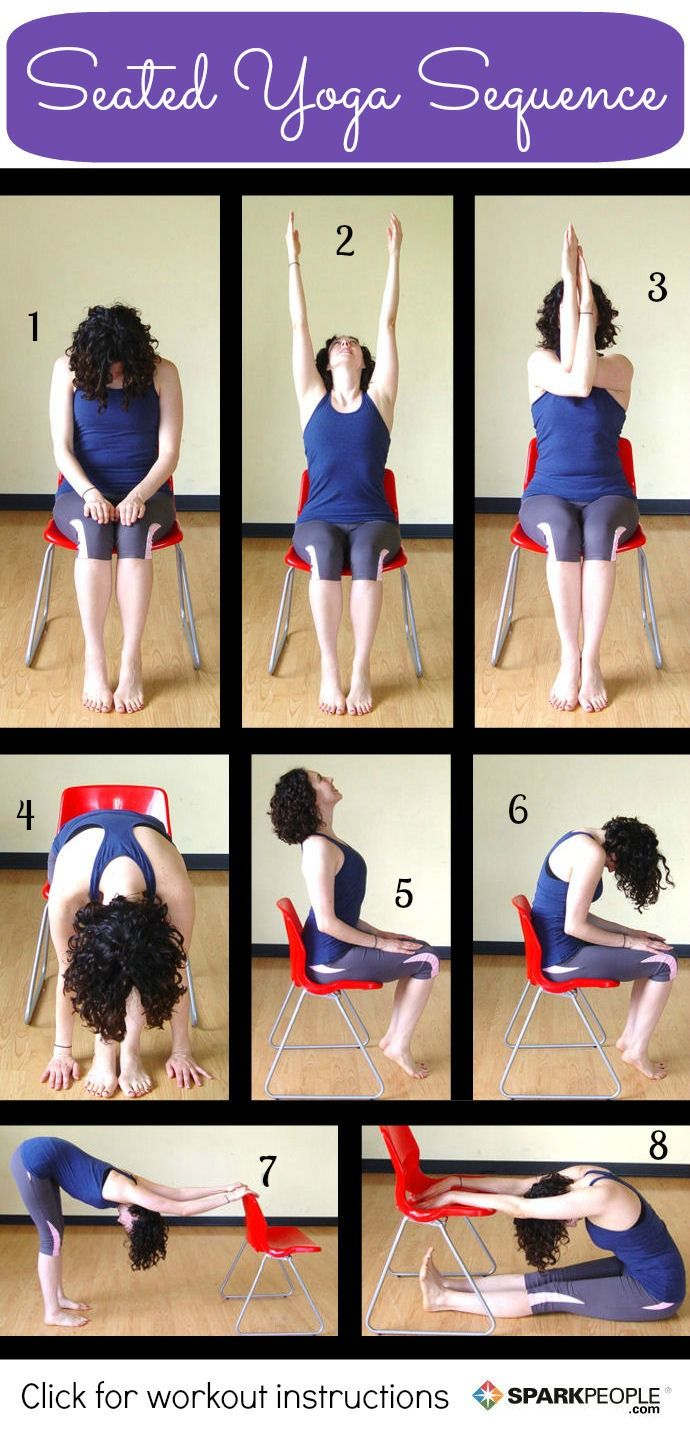 8 Seated Yoga Poses You Can Do from a Chair Yoga poses