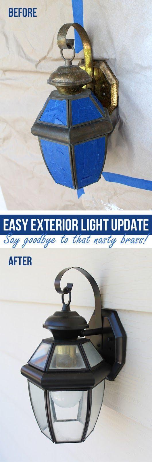 Refinishing Light Fixtures