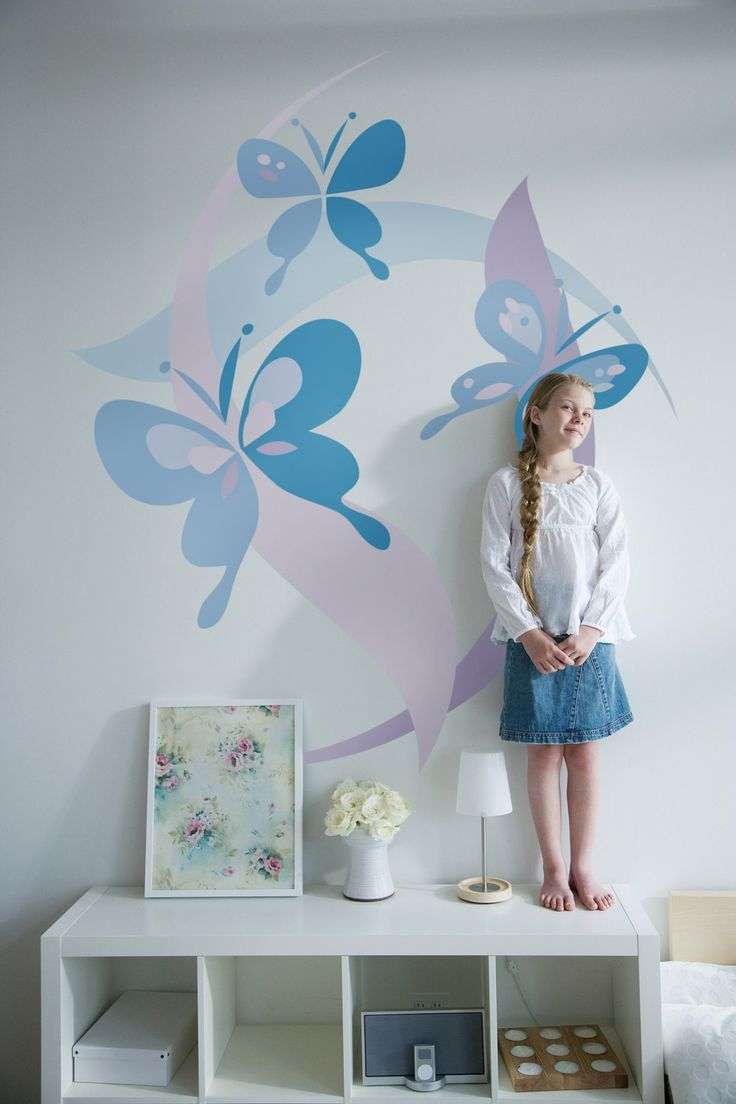 Diy Paint By Number Mural Butterfly Mural Butterfly