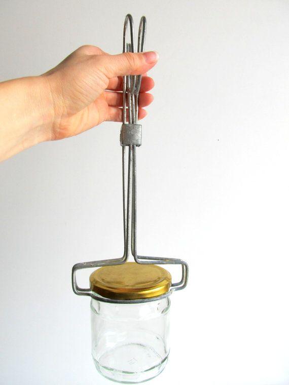 Soviet Vintage Jar Lifter Hot Bottle Holder Jam Tongs