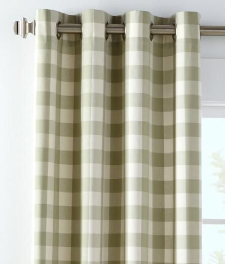 Buffalo Check Grommet Top Curtains 11995 18995