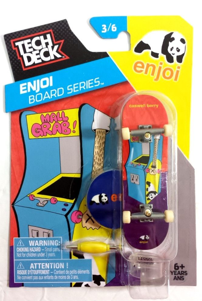 Tech Deck Skateboard Pro Enjoi Series Mall Grab stand and