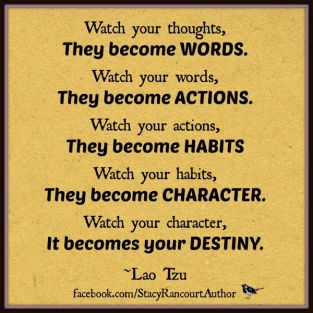 Image result for your words become your actions