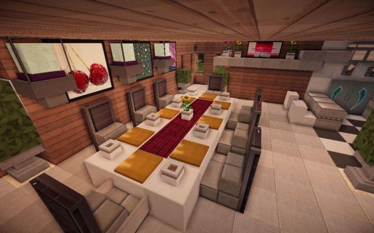 Jade Modern Minecraft Kitchen Table