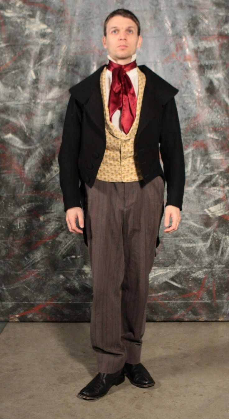 1840's men's clothing These are both 1840's outfits, we