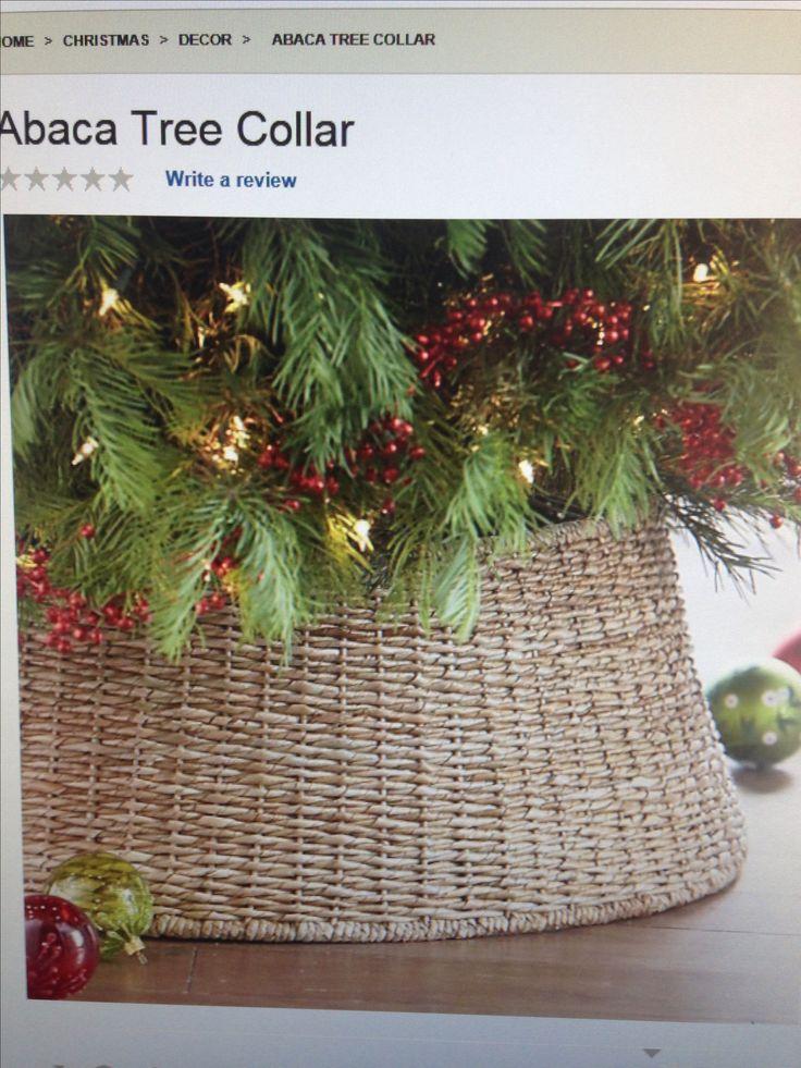 Basket for tree collar? Christmas Pinterest Trees