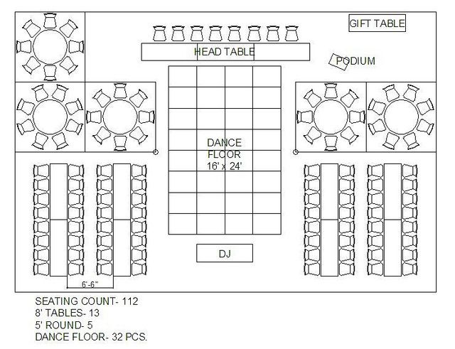 Mixing Round And Rectangular Tables
