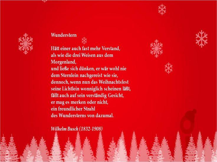Wunderstern Wilhelm Busch Winter Pinterest D