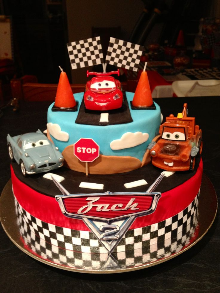 Disney Cars Cake made by me Disney Cars 2 Party 2013