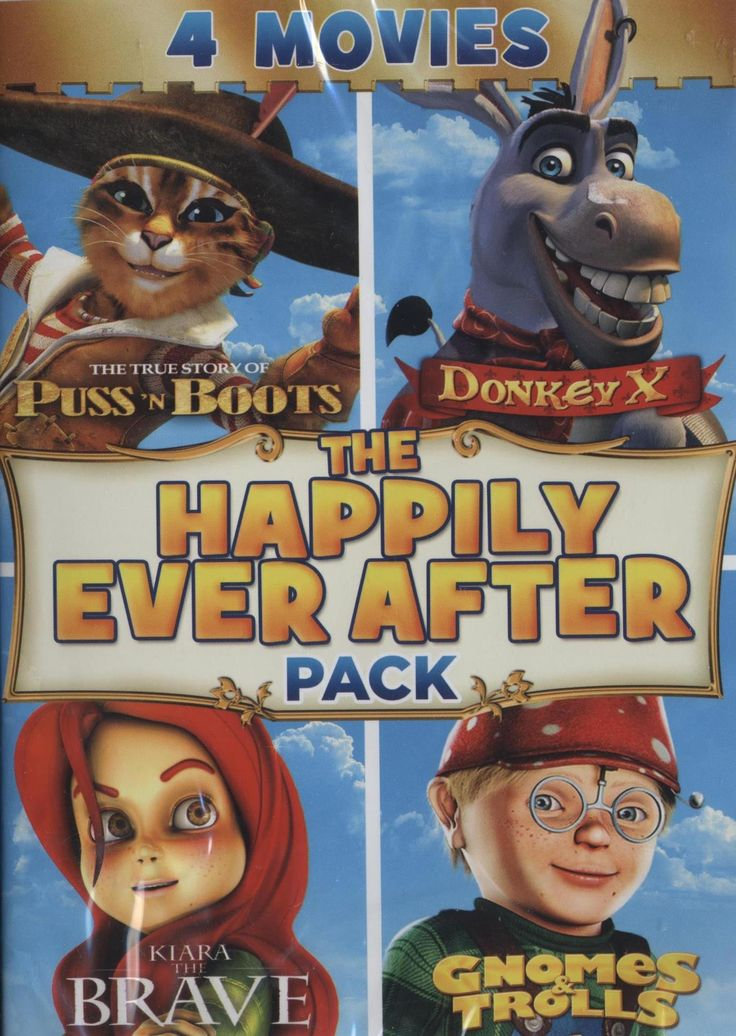 The Happily Ever After Pack DVD includes four children's
