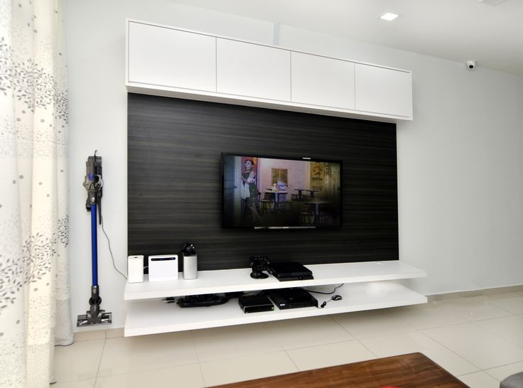 Tv Console Cabinet White Laminate Wood Livingroom