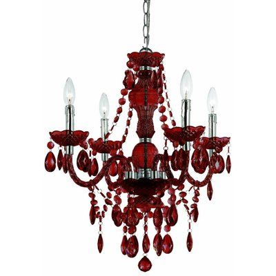 Astoria Grand Beemer 4 Light Crystal Chandelier Color Red Products Pinterest Chandeliers Crystals And Colors