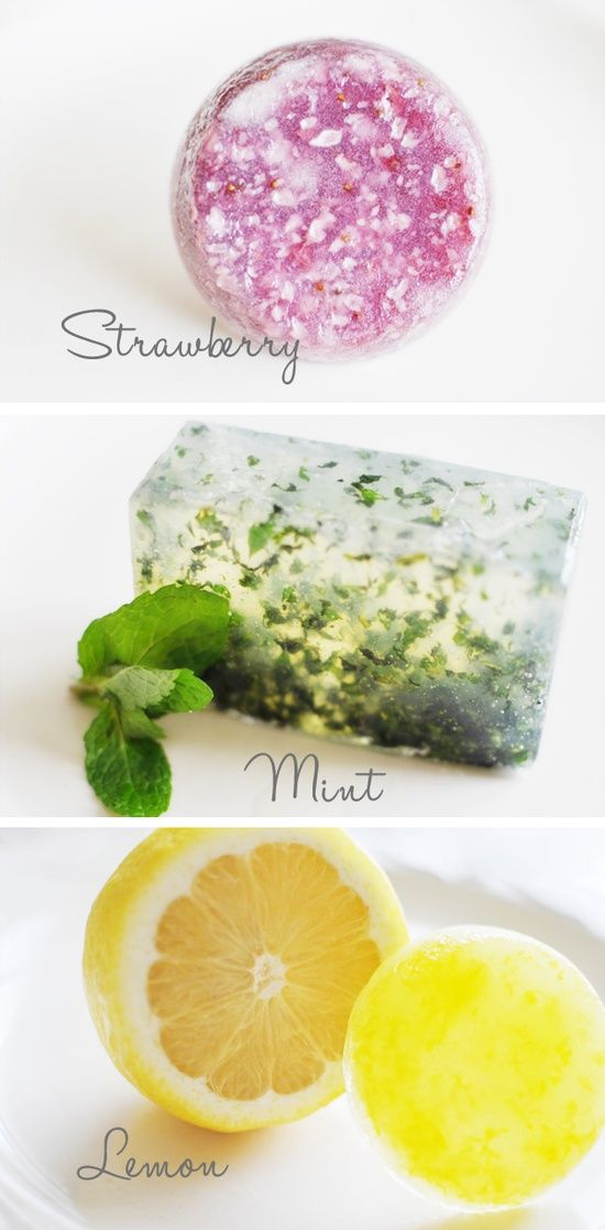 Homemade soaps – great gift idea for holidays or a housewarming party.