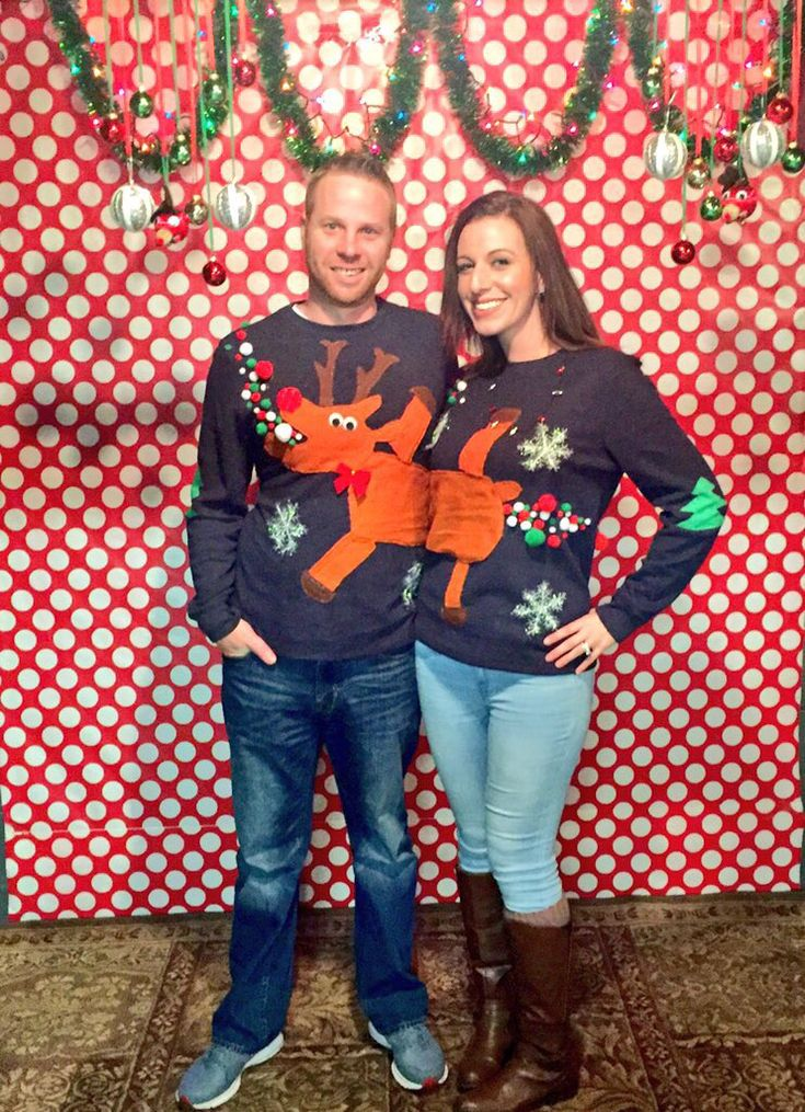 Diy Ugly Christmas Sweater for couples. I promise to not