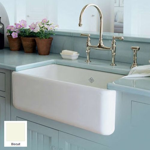 Rohl RC3018 30 Handcrafted Single Basin Fireclay Apron Front Farmhouse Kitchen Sink From The