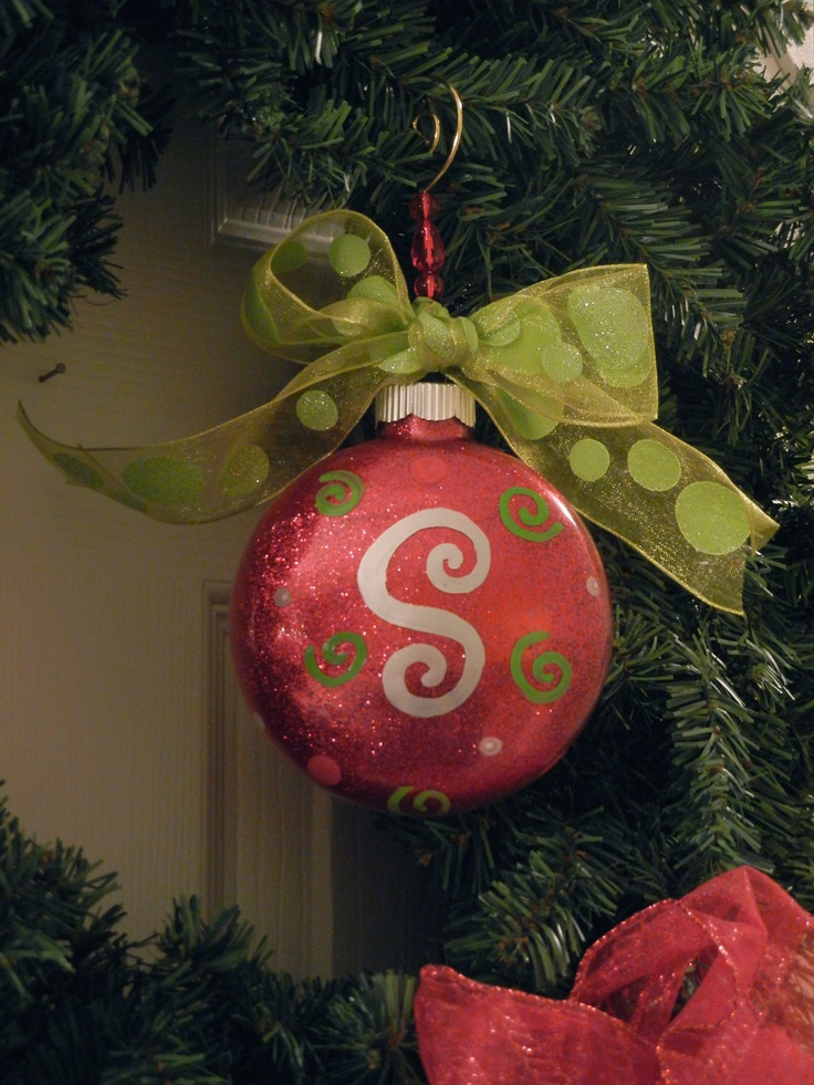 Personalized Initial Christmas Ornament. Christmas balls