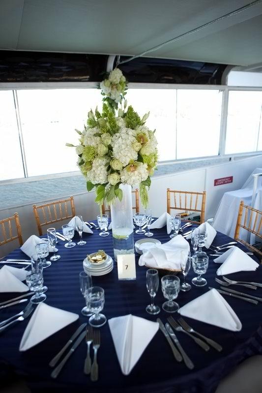 Wedding Centerpiece, Nautical Theme Hornblower Cruises