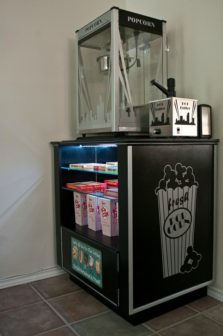 DIY Concession Stand Home Movie Theater Design Ideas Pinterest Stand For Movie Nights And