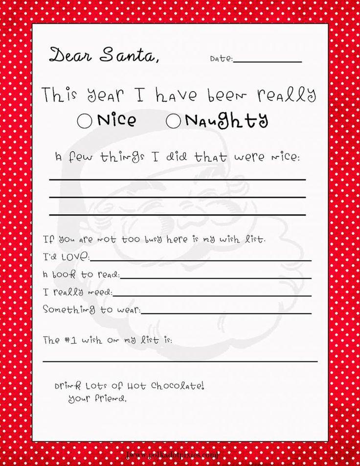 Dear Santa fillintheblank letter Polka Dot Pixies