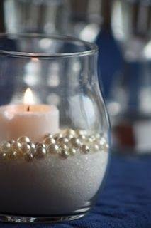 Sand (or sugar), faux pearl