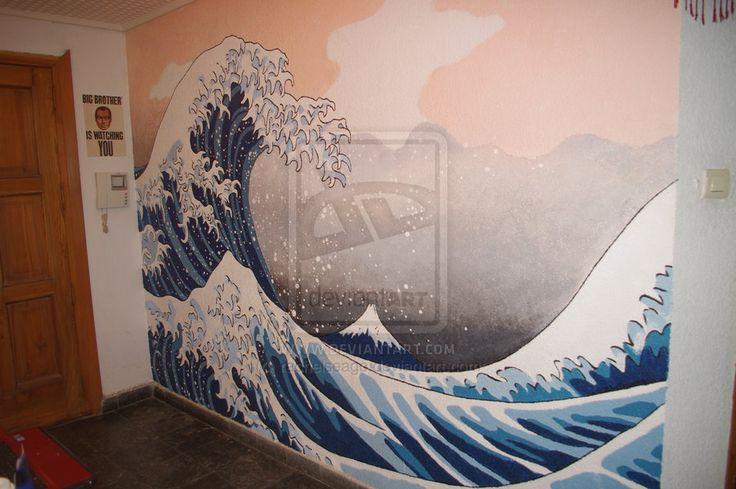 Wave Walls Stencils