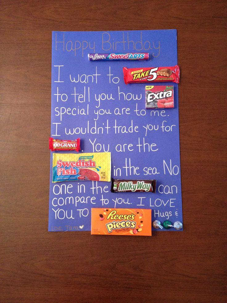 Candy Birthday Card for Boyfriend! Gifts Pinterest