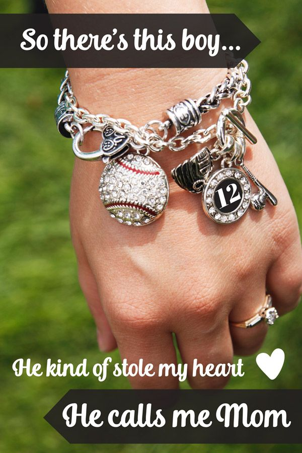 We love him we love his sports, #baseball moms forever. Baseball jewelry from inspiredsilver: