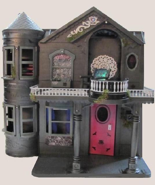 Monster High House Barbie House Repaint DIY Monster