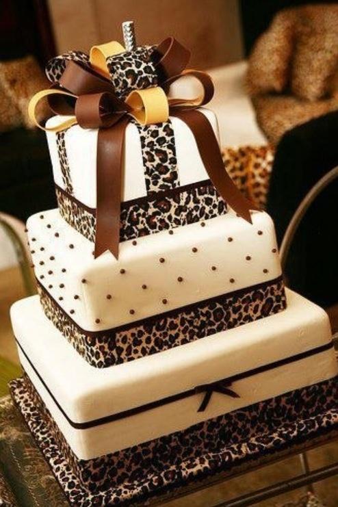 Leopard wedding cake Cakes Pinterest Wedding, Cakes
