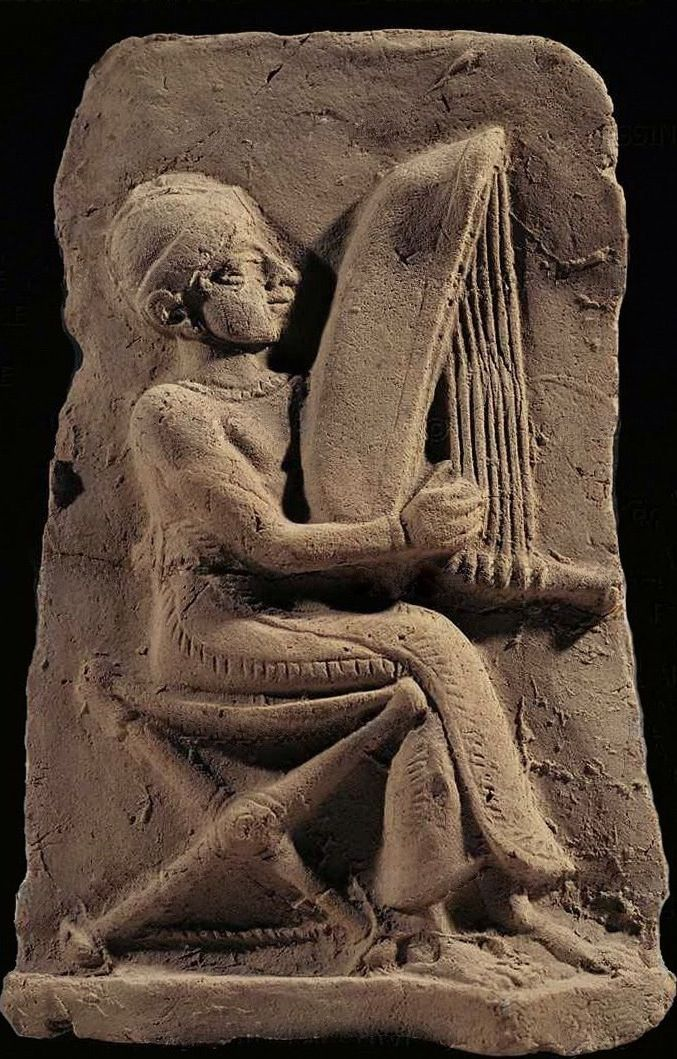 Harpist from Eshnunna, Mesopotamia, Amorite period