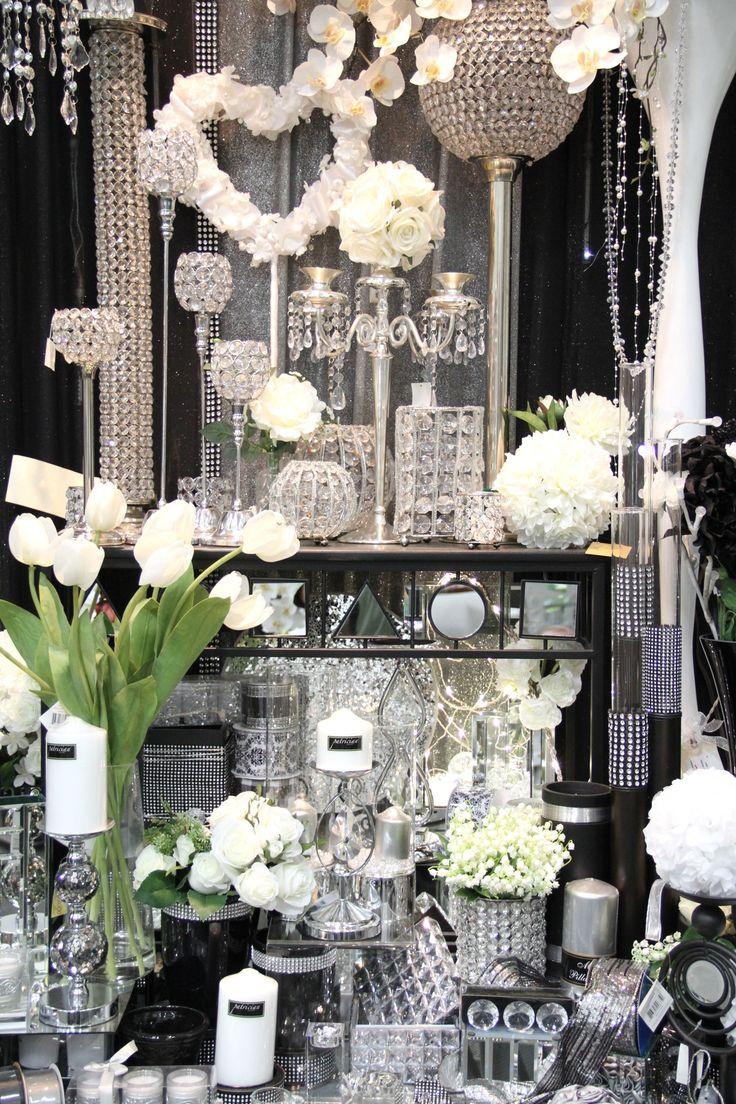 Beste Black White And Bling Wedding Theme Fotos Brautkleider Ideen