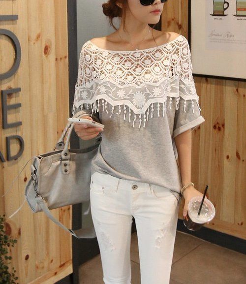 ANTHROPOLOGIE LACE TOP – $45