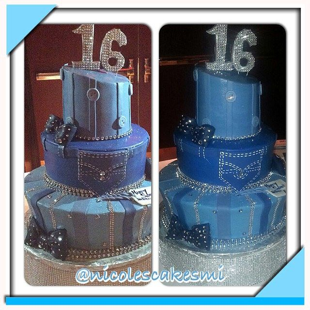 Denim And Diamonds Cake Denim And Diamonds Sweet 16 Cake