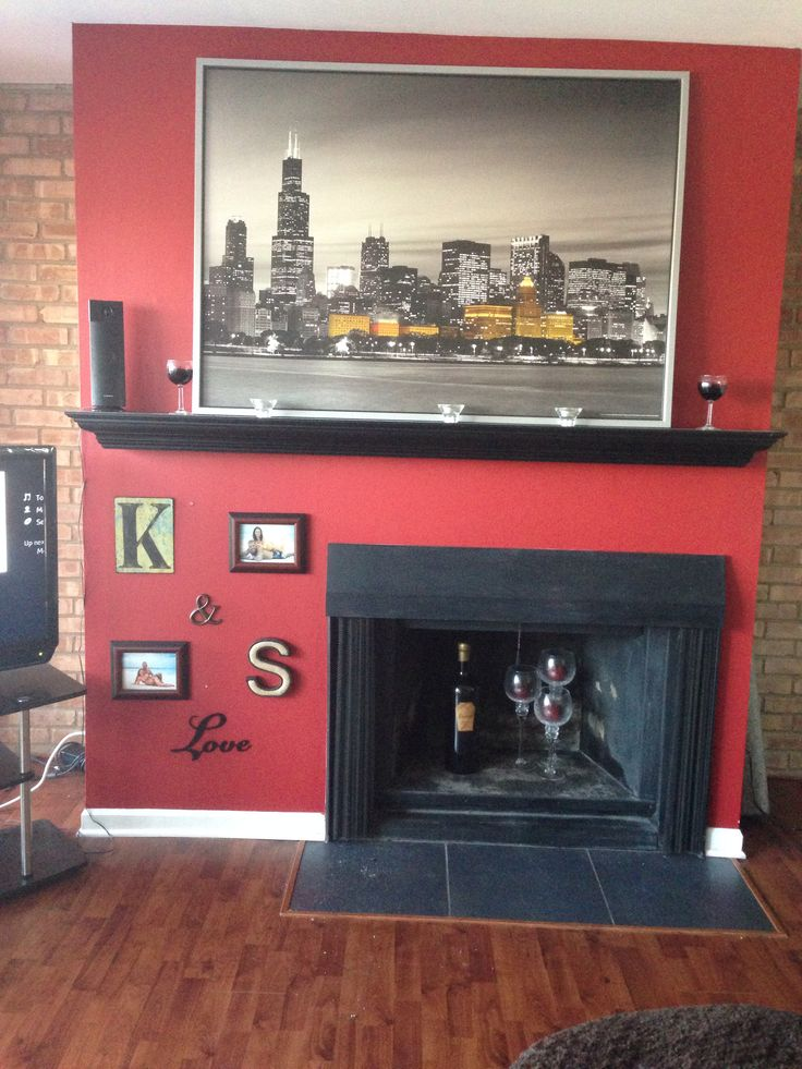 Off Center Fireplace Decorations Ideas For The House