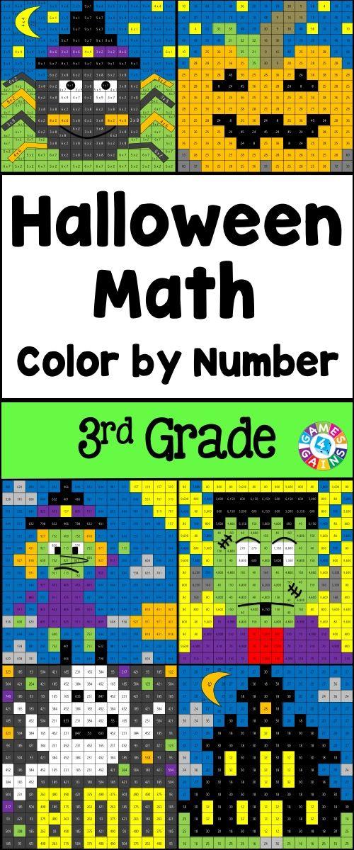 3rd Grade Halloween Activities 3rd Grade Halloween Math