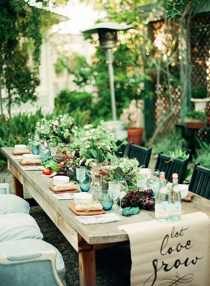 An Intimate Farm to Table Dinner Party Gardens, Runners