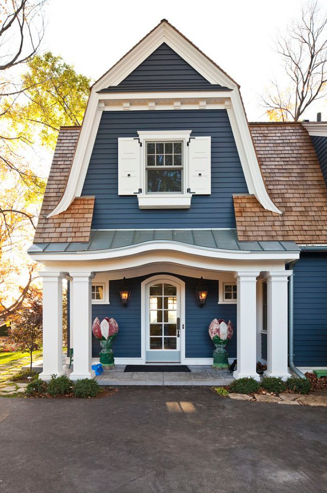 two+tone+exterior+house+colors | Cottage – Home Bunch – An Interior Design & Luxury Homes Blog.  Love the color