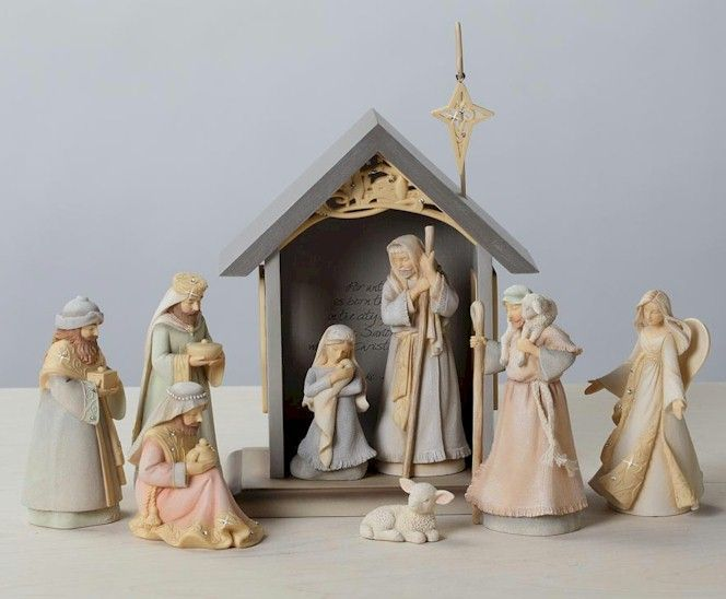 Foundations Nativity By Karen Hahn For Enesco Silent