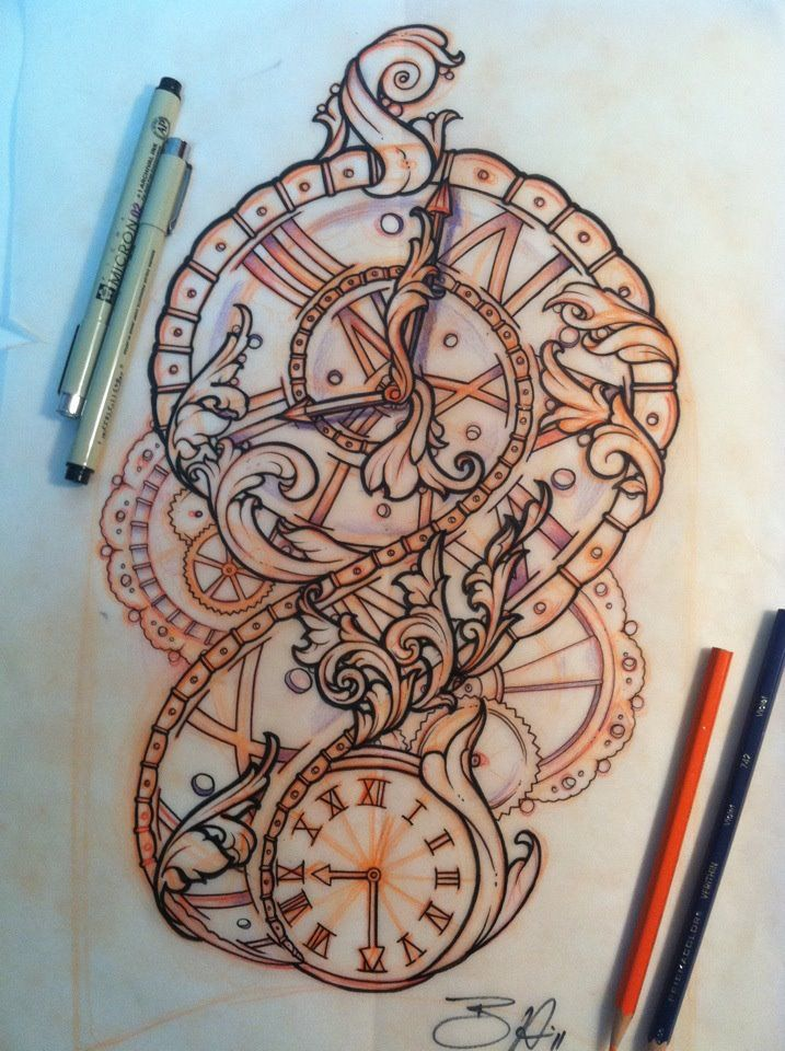timepiece by sliceman424 on deviantART Tattoo