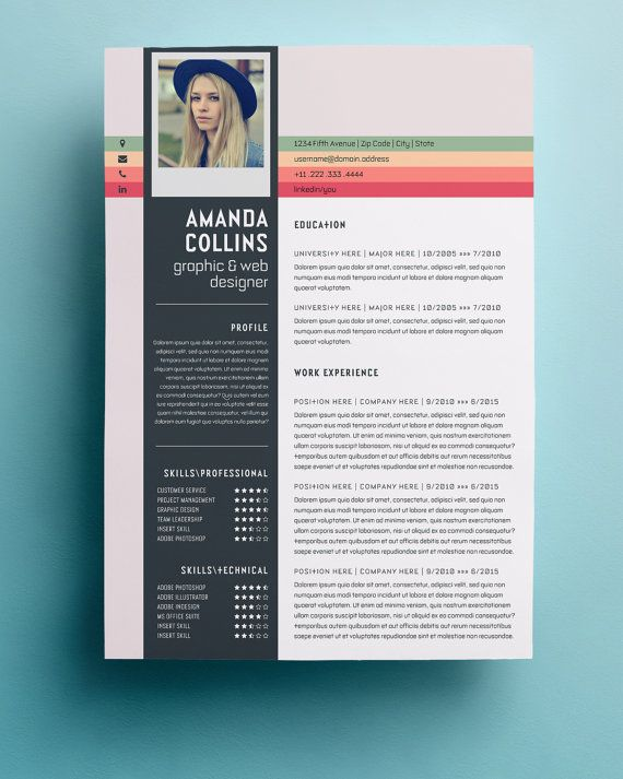 resume template professional creative and modern resume design with