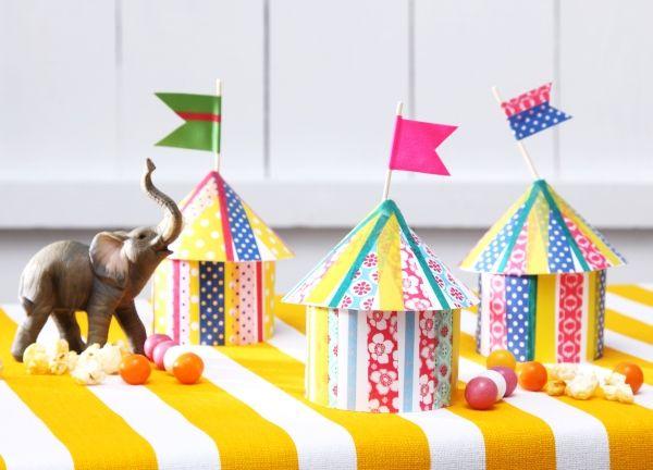Zirkus Zelte DIY Basteln Mit Kindern Kindergeburtstag Produziert Fr Tambinide