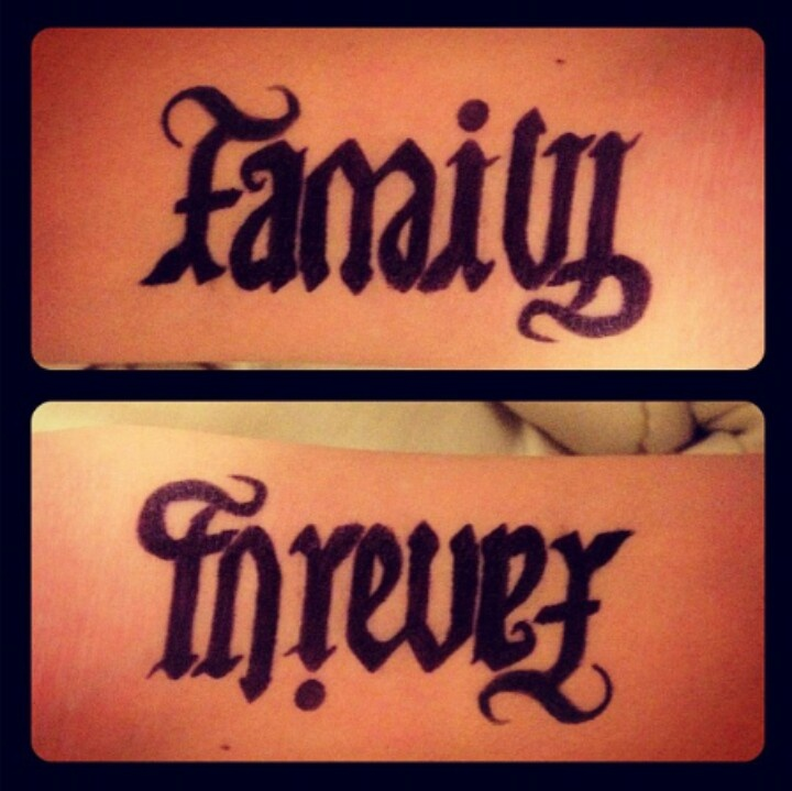 Family forever tattoo. Tattoos Pinterest Tattoos and
