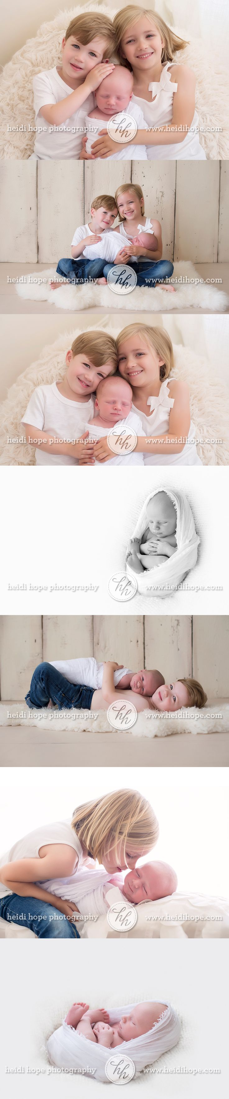 simple and timeless newborn portraits with siblings.
