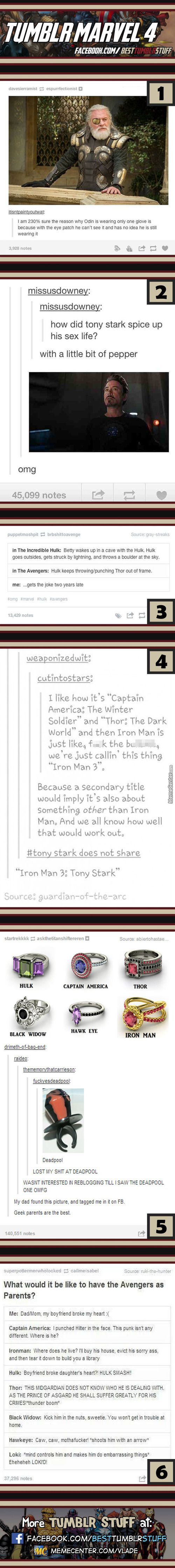 Tumblr Marvel #4. The Thor and Hulk joke is hilarious…how'd I get that two years late?!