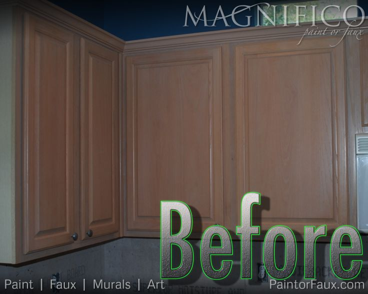 Builder Grade Oak Cabinets With Pickled Oak Stain Before