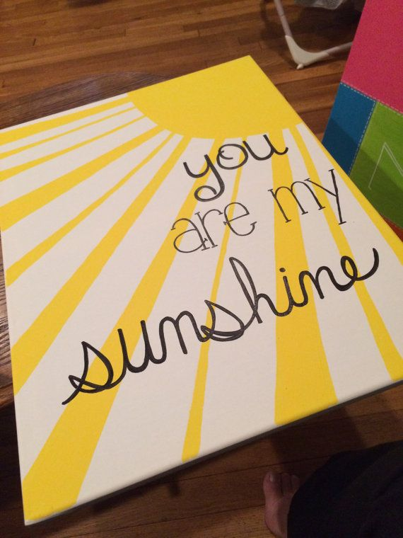 "16×20 ""You are my sunshine"" canvas painting. by SimplicityPaints on Etsy"