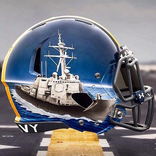 Naval Academy Hand Painted Alternate Helmets