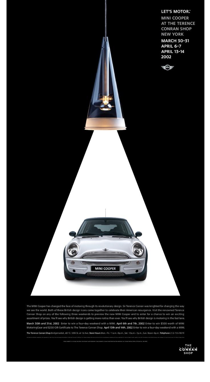 Let's motor Mini Cooper ad MINI Ads Pinterest