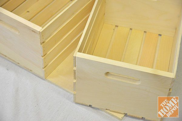 DIY Storage Ottoman - The Home Depot